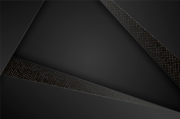 Elegant black geometric layers background
