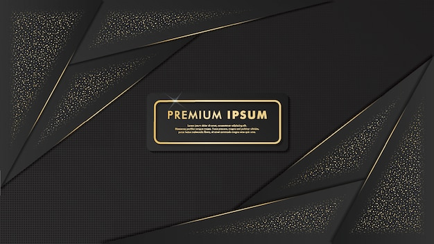 Elegant black and gold background template design
