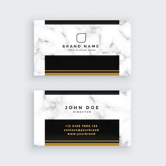 Elegant black and gold marble business card design