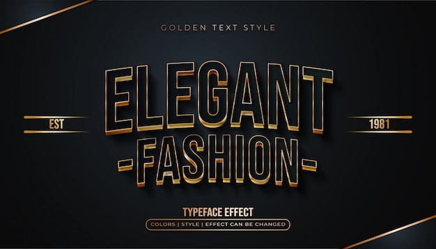 Elegant black and gold text effect
