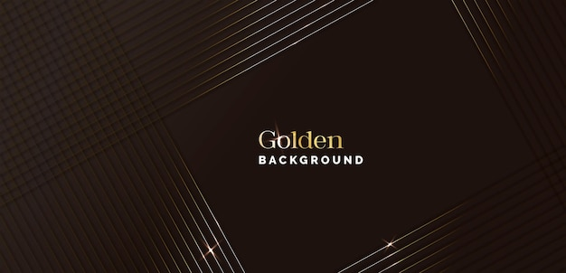 Elegante sfondo nero e dorato