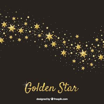 Elegant black and golden star background design