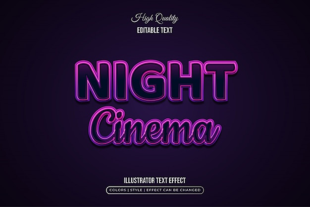 Elegant black and purple text effect