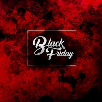 Elegant black and red water color black friday background