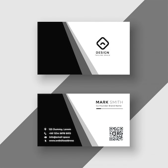 Elegant black and white business card template