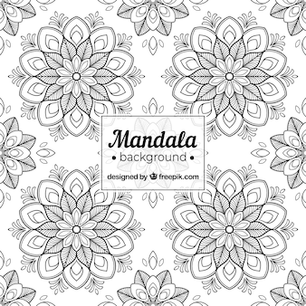 Elegant black and white mandala background