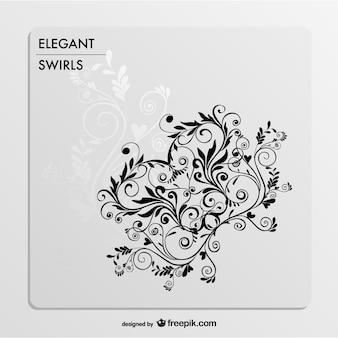 Elegant black and white swirls