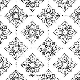 Elegant black and white thai pattern
