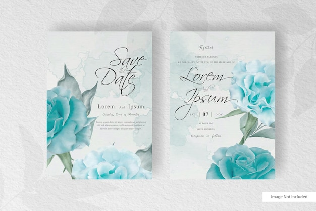 Элегантный цветущий цветочный шаблон свадебного приглашения