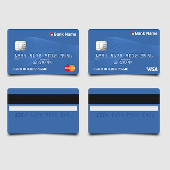 Elegant blue atm card