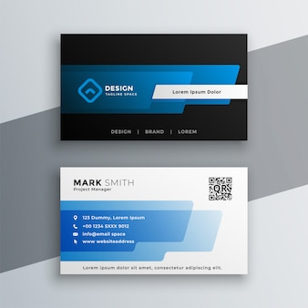 Elegant blue business card template design