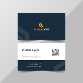 Elegant blue corporate business card template