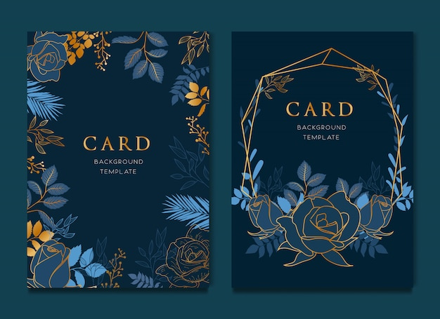 Elegant blue floral card design