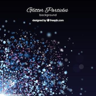 Elegant blue glitter particles background