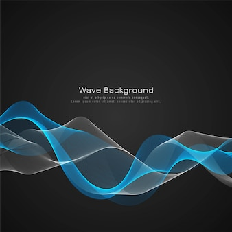 Elegant blue glossy wave background vector