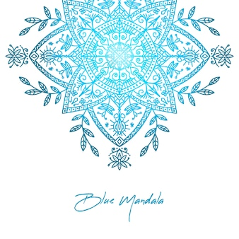Elegant blue gradient mandala background