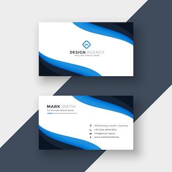 Elegant blue  modern business card design
