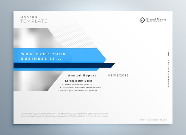 Elegant blue modern business presentation template design