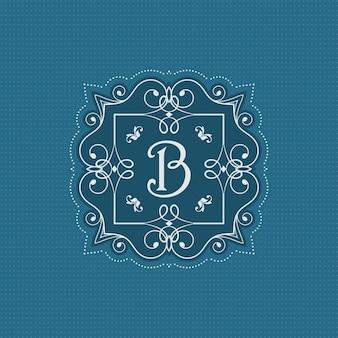 Декоративный монограмма фон со стильным дизайном
