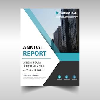Elegant blue professional annual report template