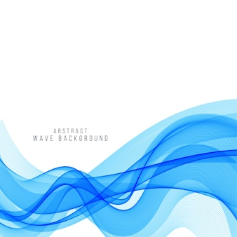 Elegant blue wave background design