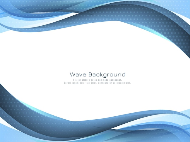 Elegant blue wave design background