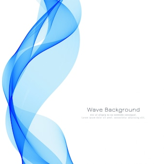 Elegant blue wave modern background
