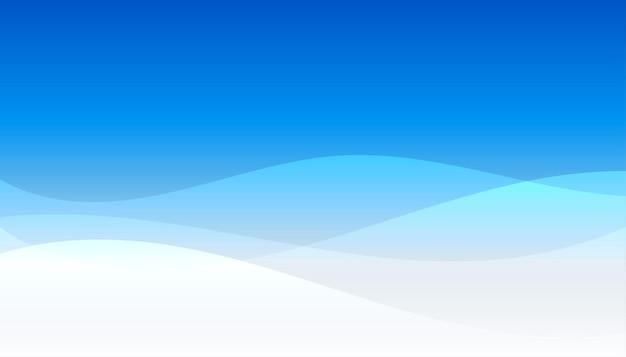 Elegant blue wave presentation business background