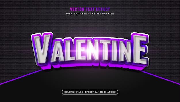 Элегантный смелый и металлический фиолетовый стиль текста с изогнутым эффектом