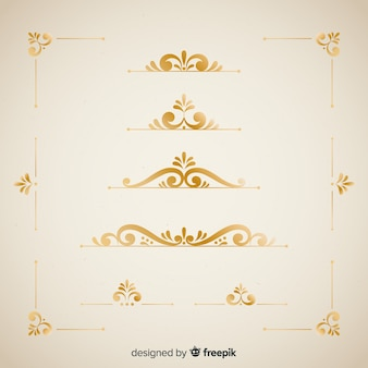 Elegant border ornaments set