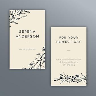Elegant botanical business card design