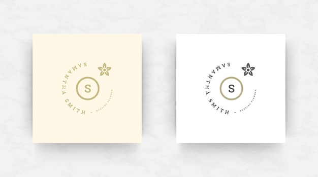 Elegant brand logo design template.