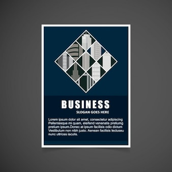 Elegant brochure with squares
