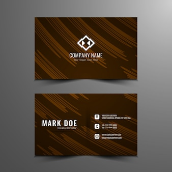 Elegant brown business card design
