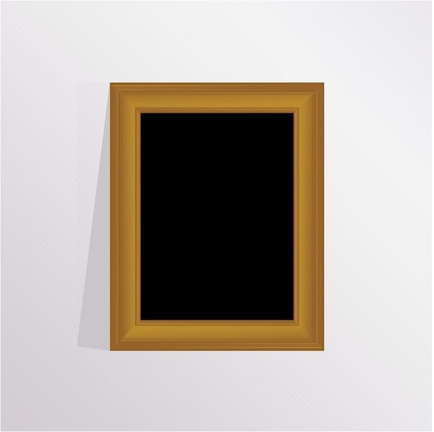Элегантная коричневая фоторамка с серым фоном