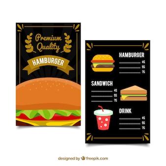 Элегантный шаблон меню гамбургера