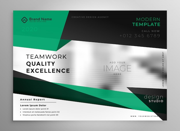 Elegant business brochure template in geometric style