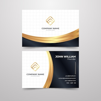 Elegant business card concept