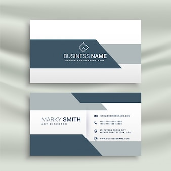 Elegant business card design in geometric shape