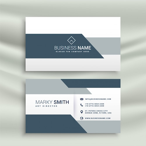 elegant business card design in geometric shape