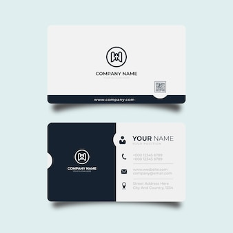Elegant business card design professional template