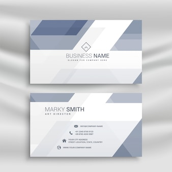 Elegant business card design with geometric shapes