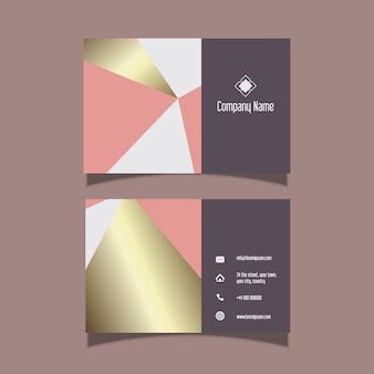 Elegant business card design with gold pattern