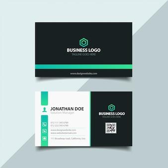 Элегантный дизайн визитной карточки Premium векторы