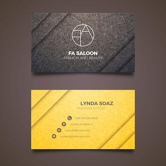 Elegant business card for fashion stylist