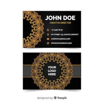 Elegant business card in mandala style