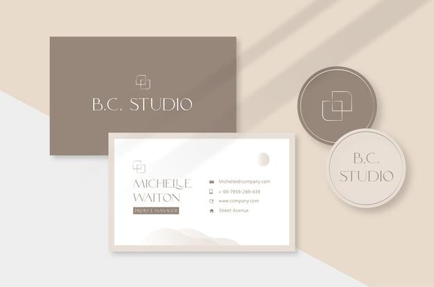 Elegant business card mockup template