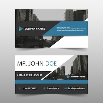 Elegant business card, modern style