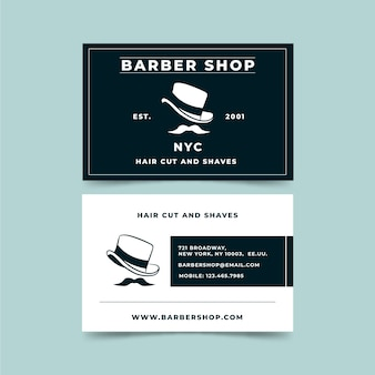 Elegant business card style for barber shop
