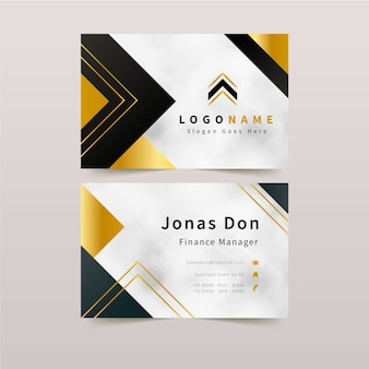 Elegant business card template concept